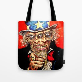 Uncle Zombie Sam Tote Bag