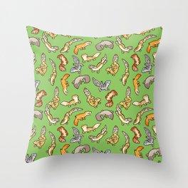 geckos in green Throw Pillow