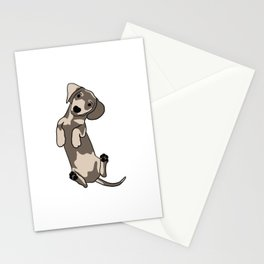 Happy dachshund illustration Stationery Cards