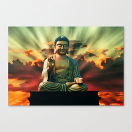 Buddha Sunrise Canvas Print