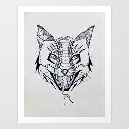 Fox Snake Art Print