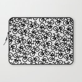Black Bikes Pattern Laptop Sleeve
