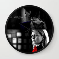swan queen Wall Clocks featuring Swan Queen by EvilQueenFann