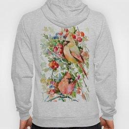 Cardinal Birds and Hawthorn Hoody