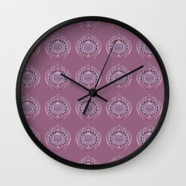 Painted Circle in Violet Wall Clock