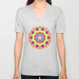 Indian mandala handmade Unisex V-Neck