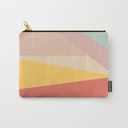 Retro Abstract Geometric Carry-All Pouch
