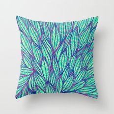 Natural leaves Throw Pillow