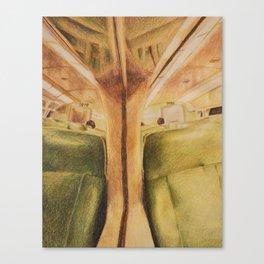 Train Reflection Canvas Print