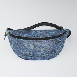 Dark Speckles - Turquoise Fanny Pack