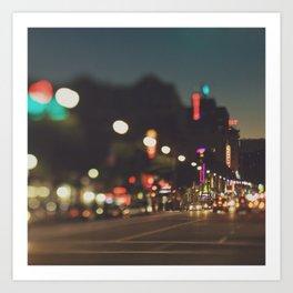 Hollywood Boulevard photo. Los Angeles Art Print