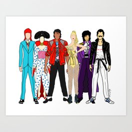 Retro Party 1 Art Print