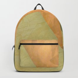 Golden Triangle With Green and Cream - Corbin Henry Color Field Backpack