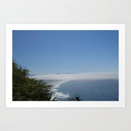 coastal fog Art Print