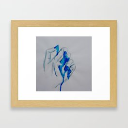 Dripping Hand Framed Art Print