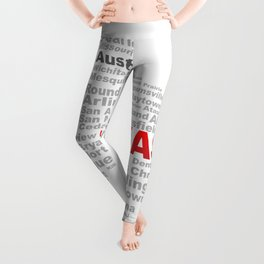 Texas State Word Cloud Leggings