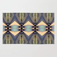 art deco Area & Throw Rugs featuring Art-deco by I-lin