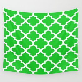 Arabesque Architecture Pattern In Summer Green Wall Tapestry