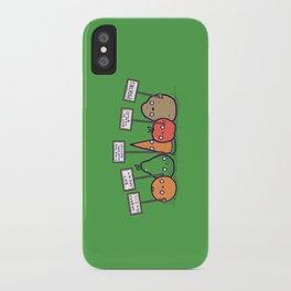 I hate vegans iPhone Case