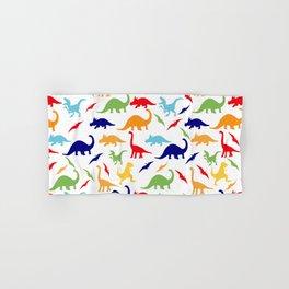 Colorful Dinosaurs Pattern Hand & Bath Towel