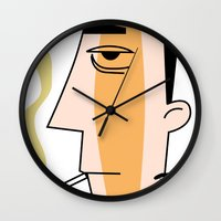 cigarettes Wall Clocks featuring Cigarettes by Brian Sisson