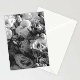 Black and White Lisianthus Stationery Cards