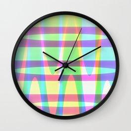 Inward Waves Melting Wall Clock