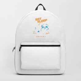 Eat Sleep Pet Repeat Animal Lovers Wildlife Pets Companion Rescue Gift Backpack