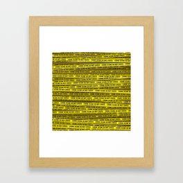 Crime scene / 3D render of endless crime scene tape Framed Art Print