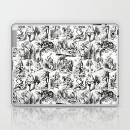 Alice in Wonderland | Toile de Jouy | Black and White Laptop & iPad Skin
