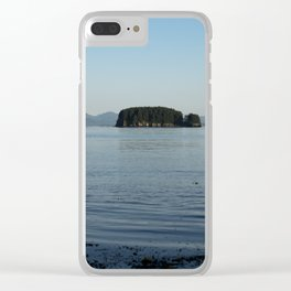 Peaceful Island Clear iPhone Case