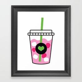 Pink Drink Framed Art Print