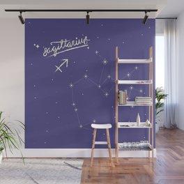 sagittarius in the stars Wall Mural