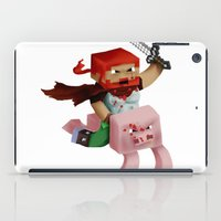 gore iPad Cases featuring Hoojo of Minecraftia - Gore Edition by Angry Adventure
