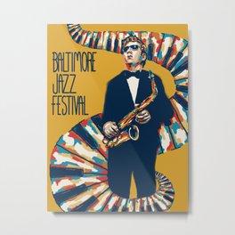 Jazz Festival Poster Metal Print