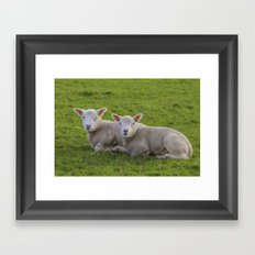 New year babys Framed Art Print