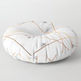 Marble Geometry 054 Floor Pillow