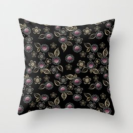 Beautiful brooches Throw Pillow