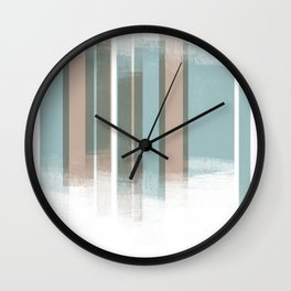 Turquoise blue Retro Style Geometric Abstract - Codex Wall Clock