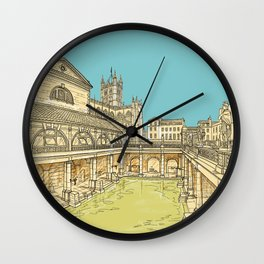 City Of Bath Architecture Wall Clock