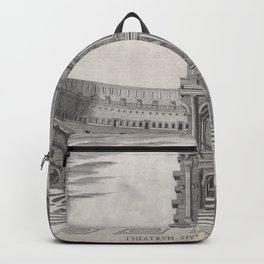 Vintage Diagram of The Roman Colosseum (1581) Backpack