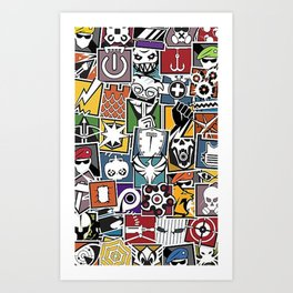 Rainbow 6 Operator Sticker Bomb Art Print