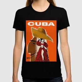 Vintage Travel Ad Cuba T-shirt