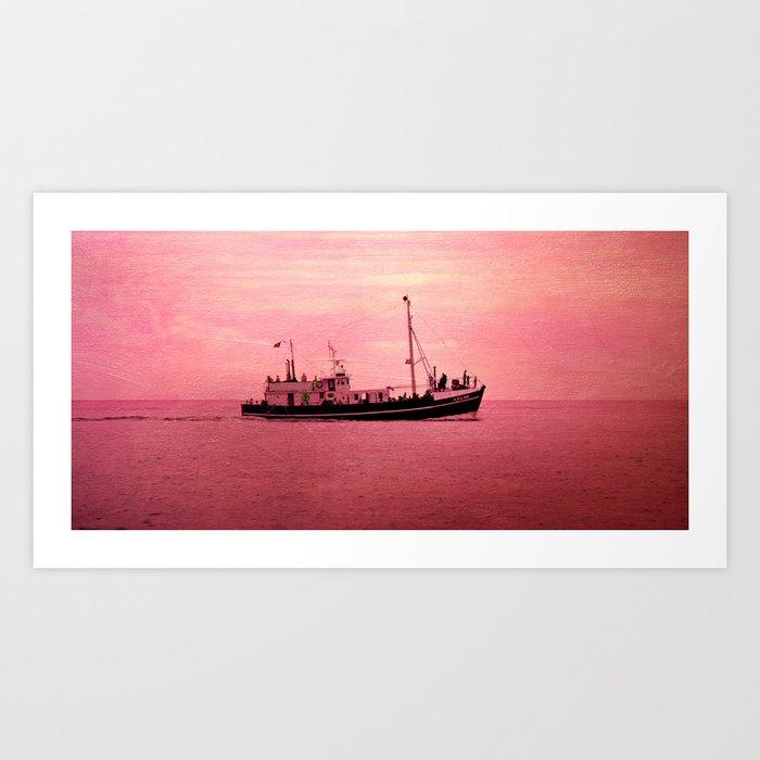 mer en rose Art Print