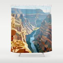 Geometric Grand Canyon National Park, USA Shower Curtain