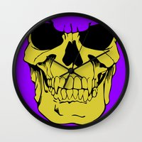 skeletor Wall Clocks featuring Skeletor by Dukesman