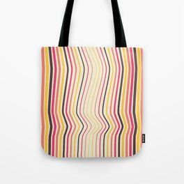 OpArt WaveLines 4 Tote Bag