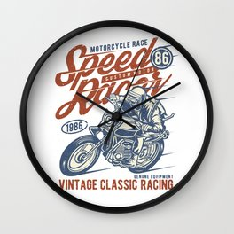 Motorcycle Race Speed Racer Custom Motor Wall Clock