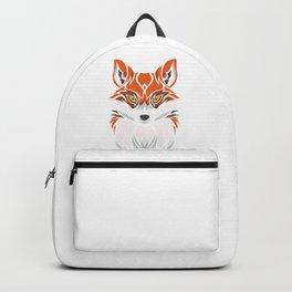 Tribal Fox - Wild Animal Art - Exotic Animals Backpack