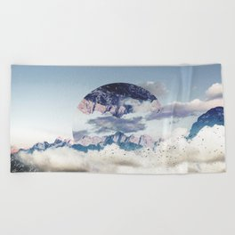 Abstract Mountains Beach Towel